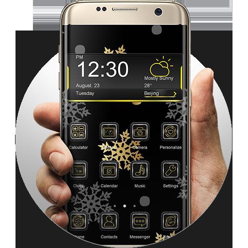 Gold & Silver Snowflakes THEME 新聞 App LOGO-硬是要APP