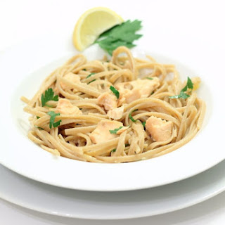 Linguine with Citrus and Salmon.