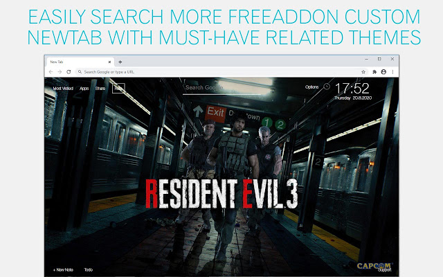 Resident Evil 3 Remake Wallpaper HD RE3 Remake New Tab