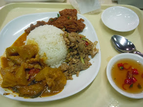 Photo: Curry, pad se eu, fish cakes