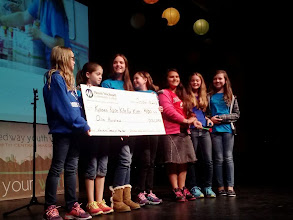 Photo: Kylee & some of the team receiving the Change Maker of the Year Award at MWCC's Youth Venture Fall Kick Off on October 18th, 2013.