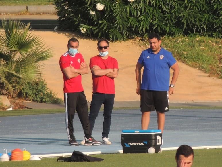 Mohamed El Assy, João Gonçalves y Mohamed Adel.