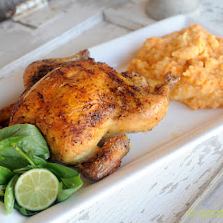 Thai Roasted Chicken with Coconut Milk and Basil Mashed Sweet Potatoes