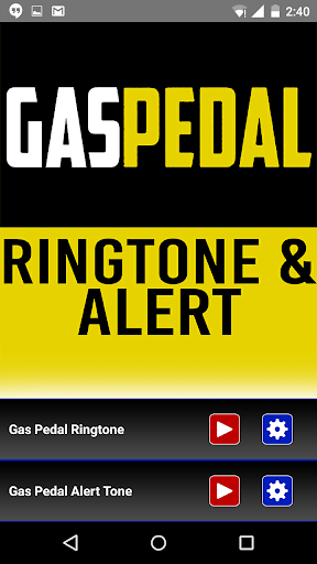 Gas Pedal Ringtone and Alert