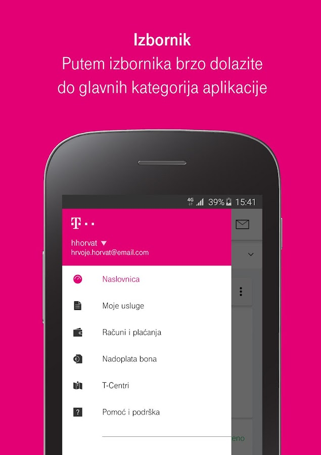Moj Telekom HR- screenshot