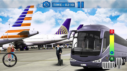 Bus Simulator Game 2019:Airport City Driving 3D  captures d'écran 1