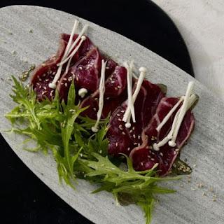 Seared Beef Carpaccio.