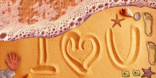 Write on Beach Sand