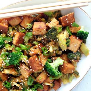 Broccoli and Tofu Sweet Sour.