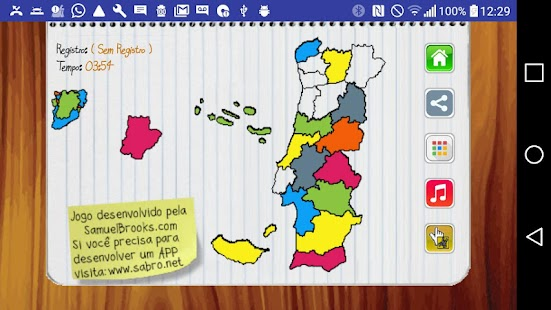 Jogo Mapa de Portugal- screenshot thumbnail