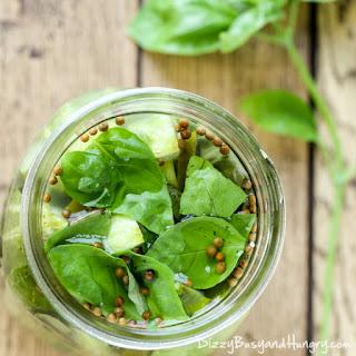 Jalapeno Garlic Basil Pickles