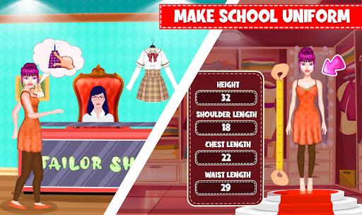 High School Uniform Tailor Games: Dress Maker Shop android2mod screenshots 1