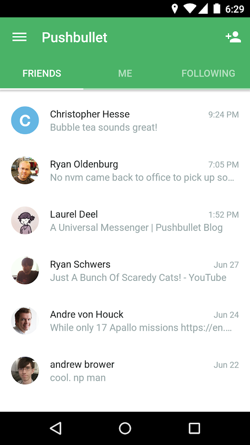 Pushbullet - SMS on PC- screenshot