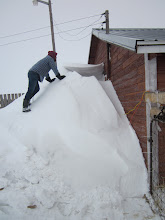 Photo: Joel checks out this amazing snow drift