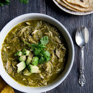 Healthy Slow Cooker Chicken Chile Verde.