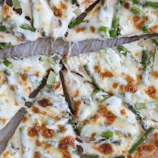 Asparagus Ricotta Pizza.