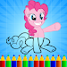 Pony Coloring Book Pages icon