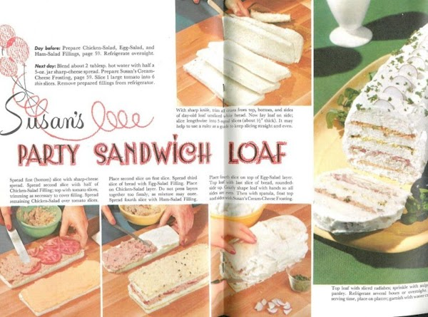 Frosted Party Sandwich Loaf Recipe