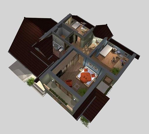 APS 076 - Rzut poddasza 3D