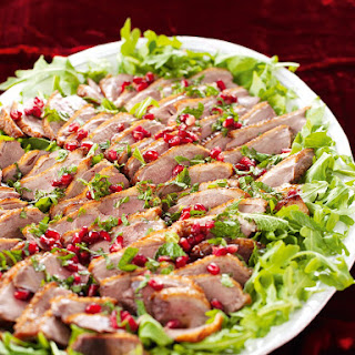 Duck Breasts With Pomegranate and Mint.