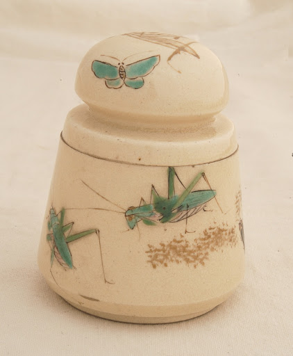 Incense case with insects design