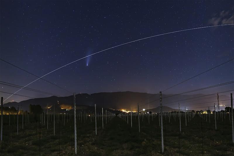 Cometa Neowise e passaggio della ISS di Sara_V_98