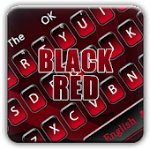 Black red minimalist business keyboard theme icon