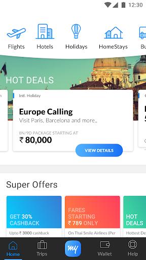 MakeMyTrip-Flights Hotels Cabs IRCTC Rail Bookings screenshot 1