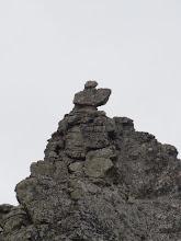 Photo: Каменный флажок на вершине скалы