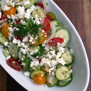 Mediterranean Cucumber Cherry Tomato Salad