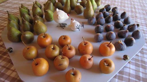 Fruits du verger à la fin de l'été