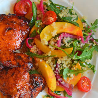 Spicy Chicken Thighs with Sweet & Tangy Honey Glaze.