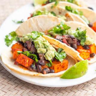 Vegan Butternut Squash Tacos with Chipotle Black Beans {GF}.