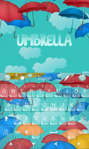 Umbrella GO Keyboard Theme