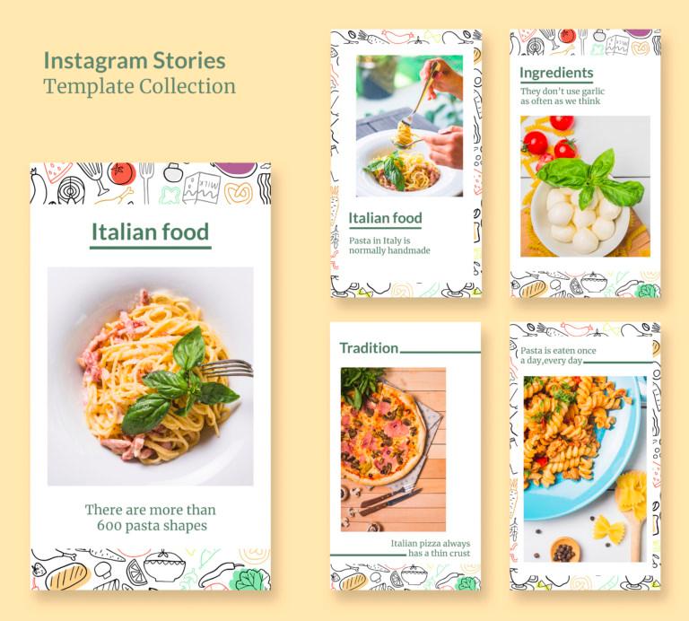 Italian Food Instagram Stories Templates