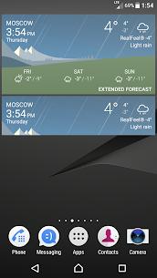 Sony Xperia Weather App 6