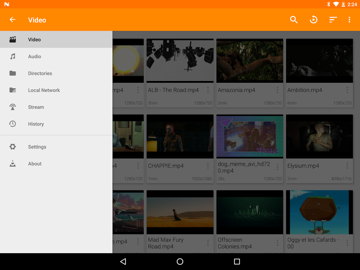 Screenshots of VLC for Android for Android