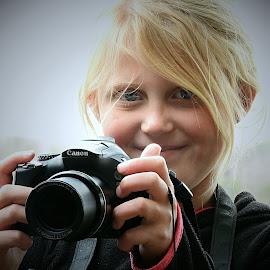 Seven year old Photographer ..... by Pieter J de Villiers - Babies & Children Children Candids
