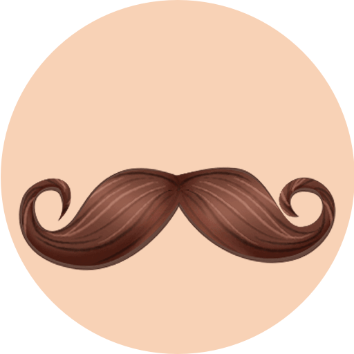 PG Facial Decor - Hair Sticker Pack from PhotoGrid Icon