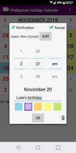 2018 Philippines Holiday Calendar AdFree + Widget - náhled