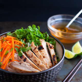 Vietnamese Grilled Chicken with Rice Vermicelli Noodles.