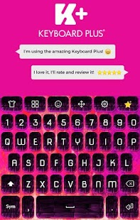 Pink Fire Animated Keyboard - náhled
