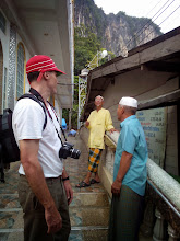 Photo: We talk to some of the elders about the history of the island and the mosque construction