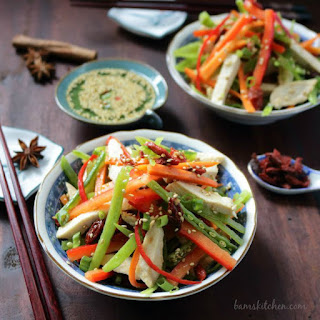 Chinese Chicken Salad & Goji Berry Dressing.