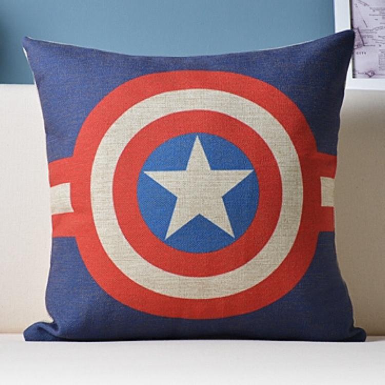 Captain America Sofa Cushion Throw Pillow Case Cover