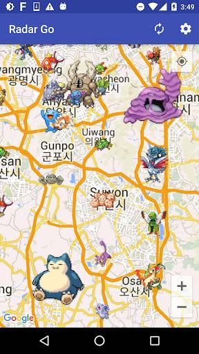 Radar Go (Find Pokemon & Raid GYM Map) screenshot 1