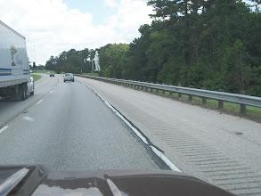 Photo: Interstate 45 with Sam Houston Statue near Huntsville, TX