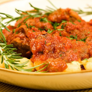 Potato Gnocchi With Quick Meat Sauce.
