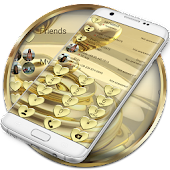 Dialer Hearts Gold Theme