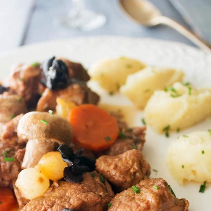 Boeuf Bourguignon with Mashed Potatoes and Celeriac